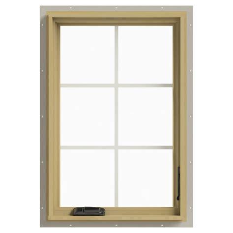 Jeld Wen Aluminum Clad Wood Windows Decor Jeld Wen 24 In X 36 In W 2500 Right Casement Aluminum Clad Wood Window Thdjw140100351