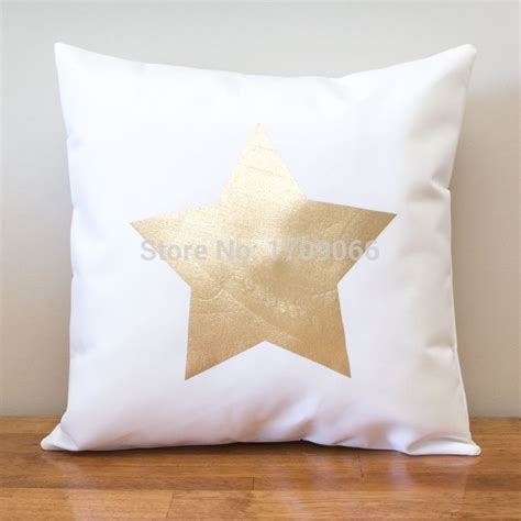 white patterned cushions custom gold star shape patterned cushion cover white