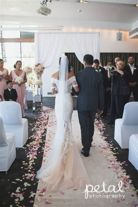Indoor wedding ceremony at Dockside, L'Aqua   Terrace Room