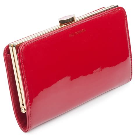 Lulu Guinness This Is The Purse by Lulu Guinness Patent Flat Frame Purse Lulu