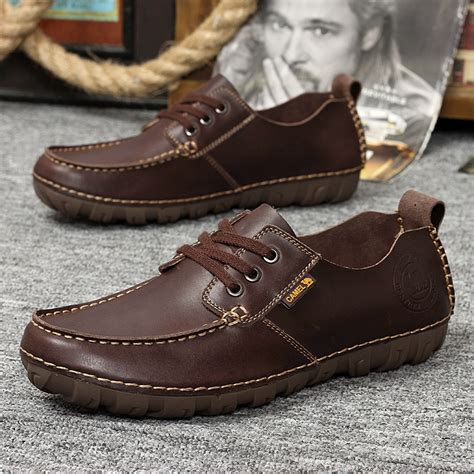 Mens Handmade Moccasins - s flats new arrival authentic brand casual genuine