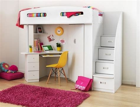 girls bunk bed with desk best 25 bed with desk underneath ideas on pinterest bunk bed with desk loft bed