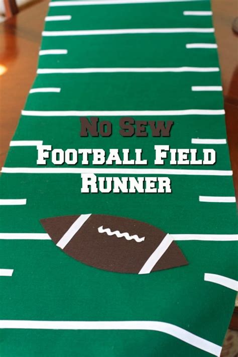 how to make a football field in your backyard game day decor pumpkin football candy holder close to home