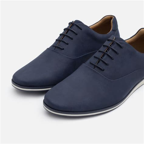 navy blue oxford shoes zara faux leather oxford shoes in blue for lyst