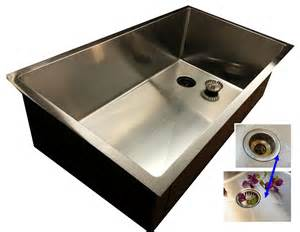 offset drain kitchen sinks
