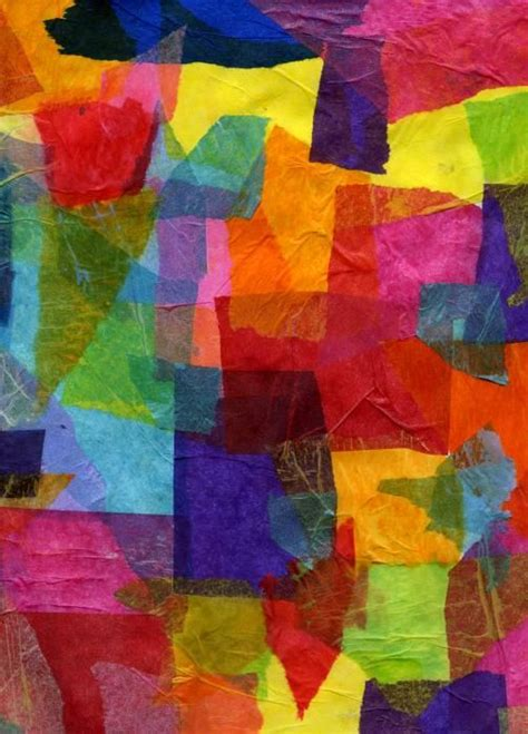 color collage 1000 ideas about tissue paper on paper