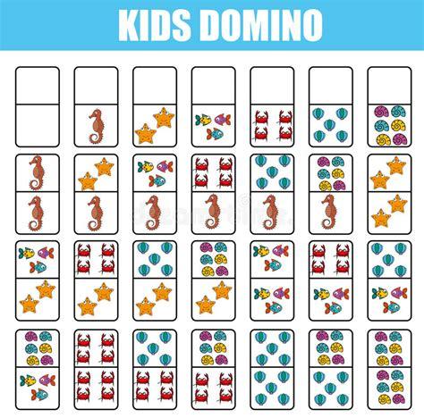 printable animal dominoes domino for kids children educational game printable