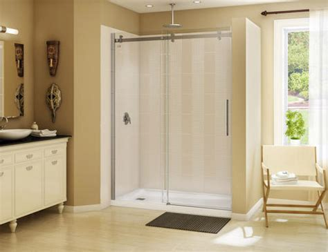 Maax Halo Shower Door Maax 174 60 Quot Halo Alcove Shower Kit With Door And Base Left Drain At Menards 174