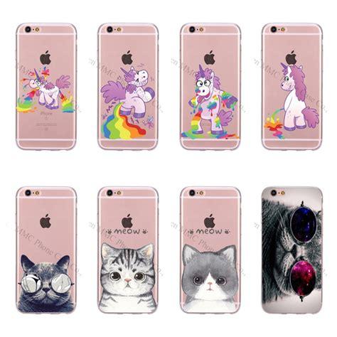 Iphone 5 5s Se Soft Jelly Meow Cat Casing Cover Bumper Lucu get cheap unicorn iphone 5 5s aliexpress