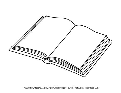 Free Open Book Clip Art Images Template Open Book Pictures Book Colouring Page