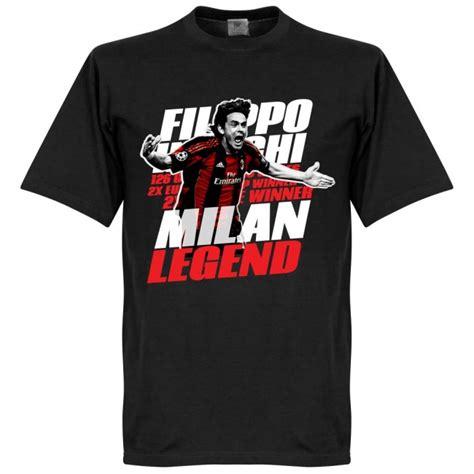 Inzaghi T Shirt t shirt leyendas f 250 tbol inzaghi negro