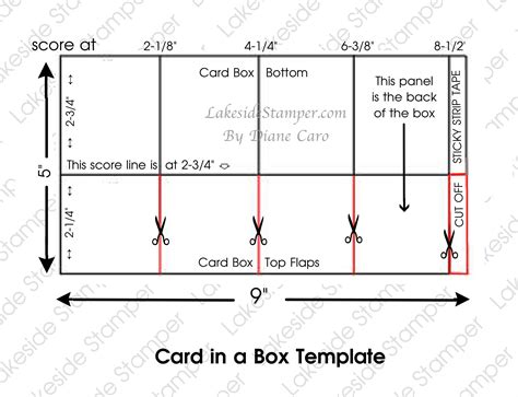 card in a box template card in a box lakesidester