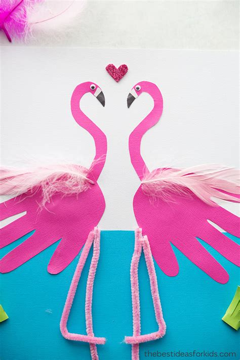 flamingo handprint   ideas  kids