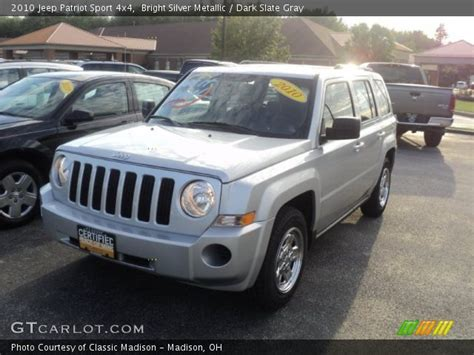 Jeep Patriot Silver Bright Silver Metallic 2010 Jeep Patriot Sport 4x4