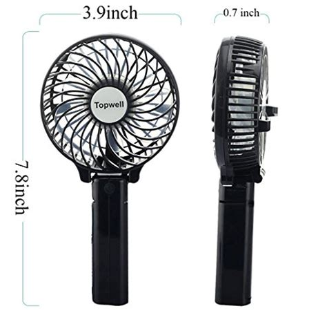 battery operated cooling fan topwell 174 rechargeable fans portable handheld fan battery