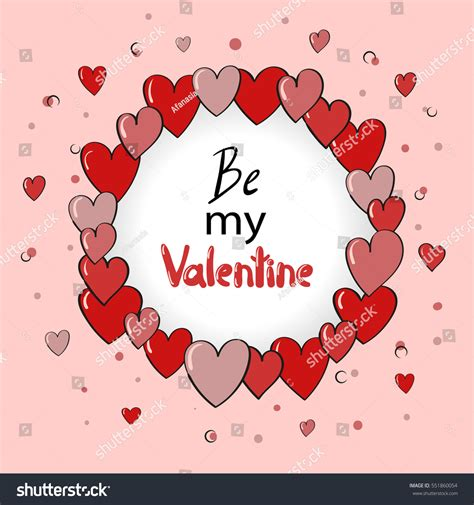 Valentines Day Card Design Hearts Vector Stock Vector | valentines day card design hearts vector stock vector