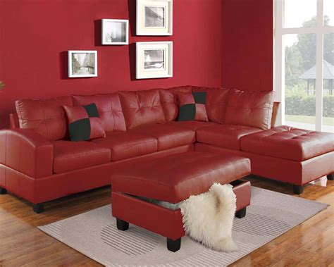 red and white sofa set red sectional sofa set kiva by acme furniture ac51185set