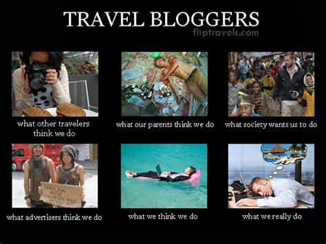 Travel Meme - flip n travels what people think we do as travel bloggers