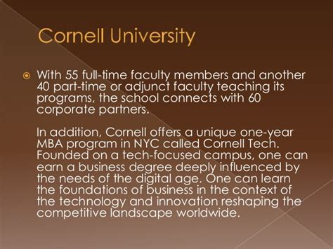 Cornell Mba Program 1 Year by Cornell S Graduate School Offers Networking Event