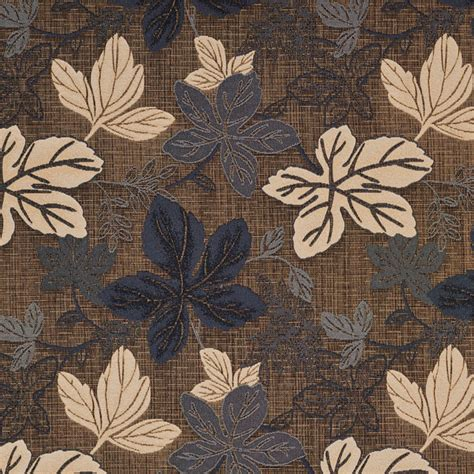 upholstery fabric leaves silver grey and beige large leaves metallic upholstery