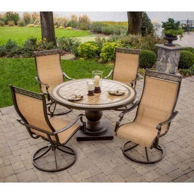 home depot outdoor patio sets hanover monaco 5 patio outdoor dining set