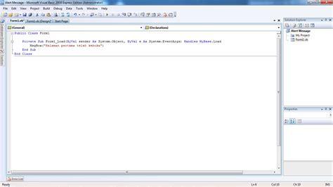 cara membuat query di vb net cara mengoperasikan visual basic 2008 dan membuat aplikasi