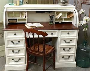 Small Black Roll Top Desk Small Antique Oak Roll Top Desk Painted And By Vintagehipdecor
