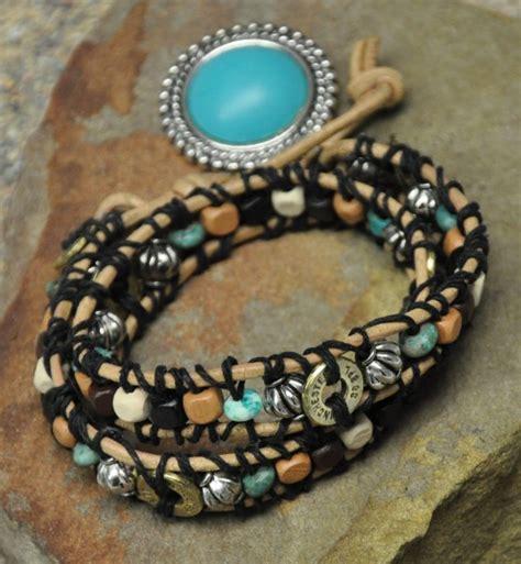Choker Ring Tie Cinnamon earthtone and turquoise ammo leather choker bracelet