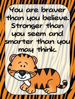 freebie zoo animals positive quote posters jungle