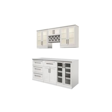 White Bar Cabinet Newage Products White Woodgrain Bar Cabinet 60090 The Home Depot