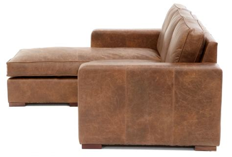 battersea chaise end compact leather corner sofa from
