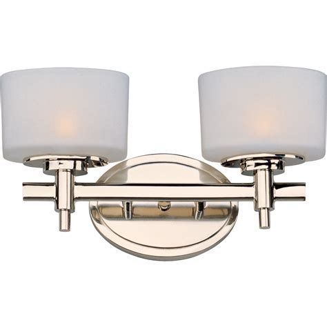 polished nickel bathroom lighting fixtures maxim lighting international lola polished nickel two
