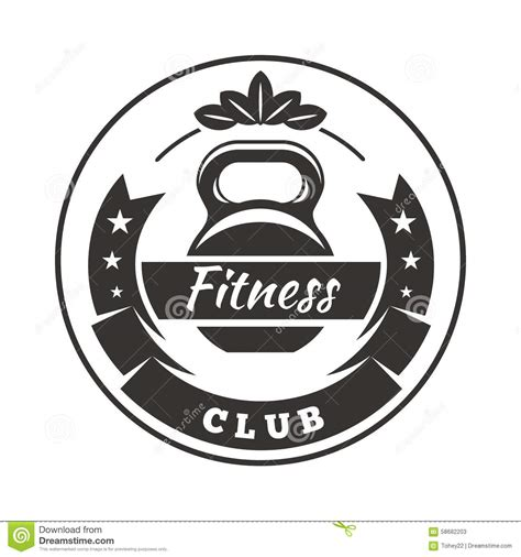 Fitness Club Logo Stock Vector Image Of Emblem Fitness 58682203 Nightclub Logo Template