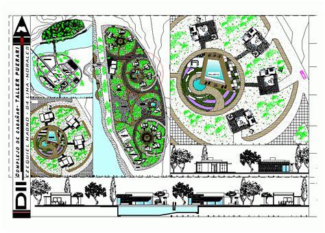 layout plan dwg cottages set 2d dwg design plan for autocad designscad