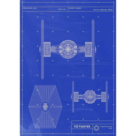tie fighter blueprints starwars tiefighter spaceship