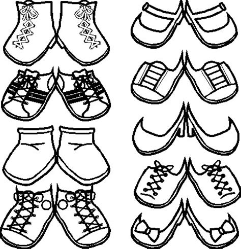 printable paper doll shoes paper doll shoes free kids crafts