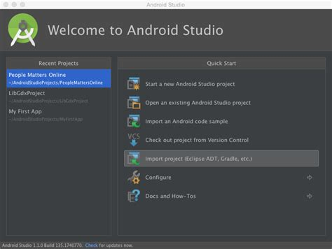 android studio import layout android studio 1 1 0 import libgdx project stack overflow