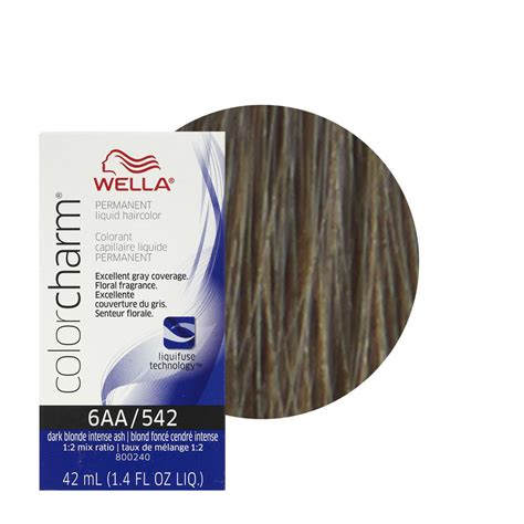 wella color charm wella color charm liquid creme hair color 542 ash