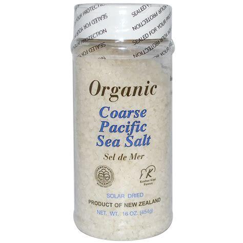 New Zealand Pacific Organic Sea Salt 500 G new zealand honey organic coarse pacific sea salt 16 oz