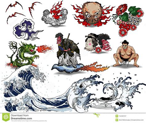 japan design japanese tattoo design royalty free stock photography