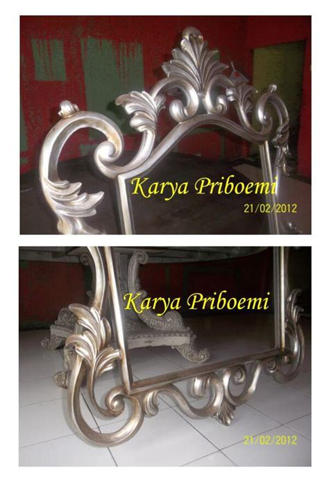 Cermin Kaca Mirror Cantik Model Sui pigura cermin antik silver