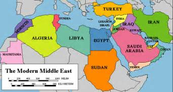 map of the modern middle east library