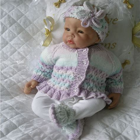 reborn baby knits knitting pattern 17 22 quot reborn doll 0 3 month baby