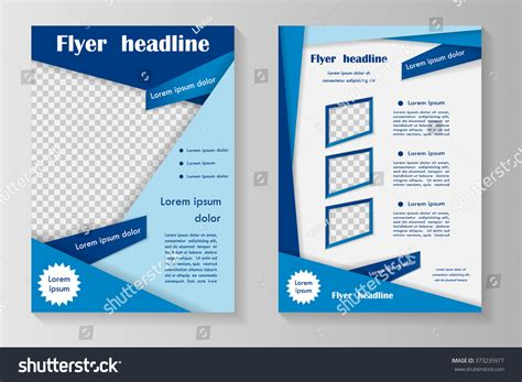 design google front page vector flyer template design with front page and back page
