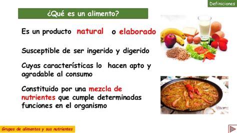 grupos de alimentos  sus nutrientes