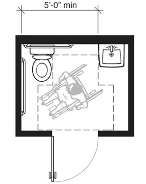 smallest ada bathroom layout appendix b to part 36 analysis and commentary on the 2010
