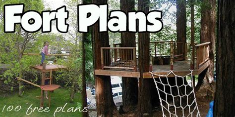 Fort Plans   Indoor and Outdoor Plans for Building Kid's Forts