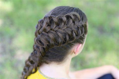 How To Do Hard Hairstyles | diagonal french loop braid cute braid hairstyles cute