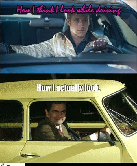 Driving School Meme - do you look like ryan gosling or mr bean when driving