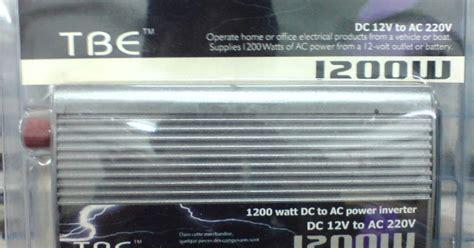 Tbe Inverter 1200 Watt 1 dunia inverter inverter tbe 1200 watt 12vdc 220vac